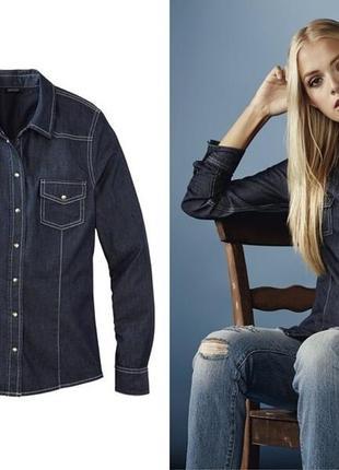 Рубашка джинсовая размер 48 наш esmara