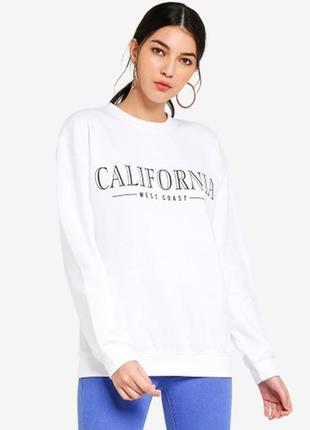 California слоган свитшот