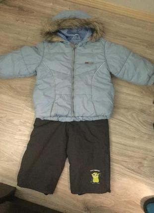 Теплый детский комплект  на 2-3 года, рост 92-98см lenne kiki und koko