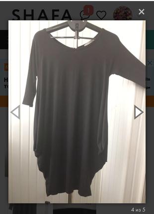 Трикотажное новое платье-баллон, италия, р. м-л