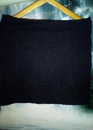 Жаккардовая мини юбка