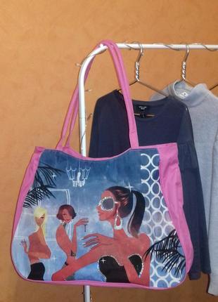 Шоппер пляжная сумка