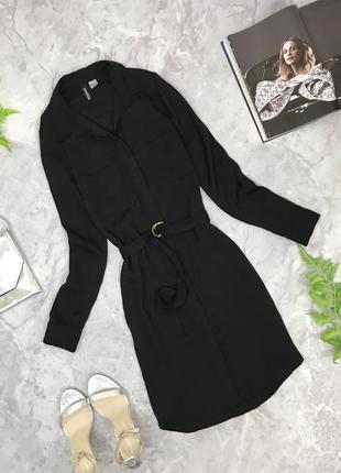 Платье-рубашка в черном цвете  dr1852021  h&m