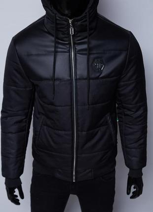 Куртка мужская зимняя philipp plein vz 1547 camo черная
