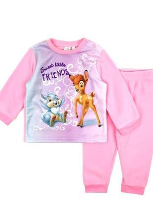 Флисовая пижама с бэмби девочке, disney baby