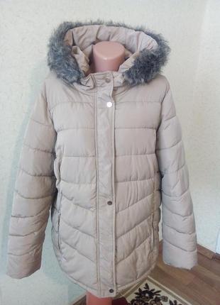 Теплая зимняя курточка на холофайбере пог 67