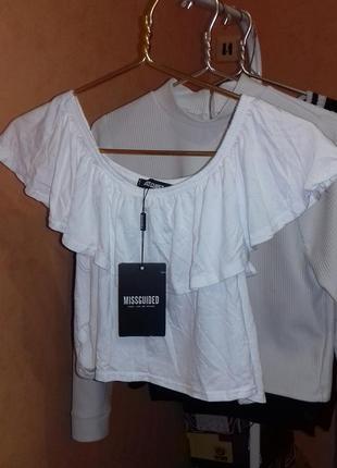 Новый белый топ блуза-трансформер