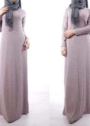 Теплое базовое платье
