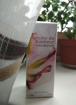 Yves rocher moment de bonheur ив роше аромат духи парфюм туалетная парфюмированная вода