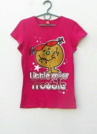 Трикотажная хлопковая футболка с принтом с надписью