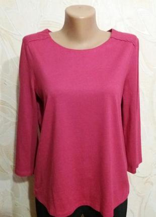 Нарядная кофточка-футболочка цвета фуксии laura ashley размер 46