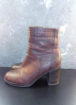 Кожаные ботинки geox сапоги ботильоны