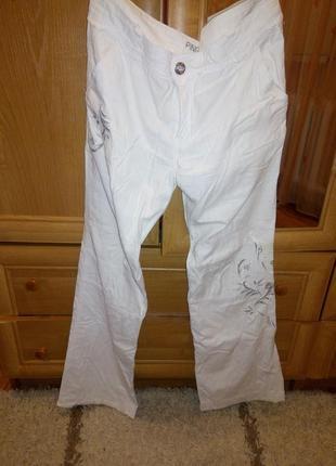 Белые штаны лен