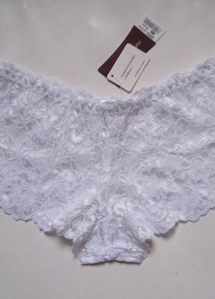 Новые белые кружевные трусики шорты шортики anabel arto анабель арто р.46 l белоснежные