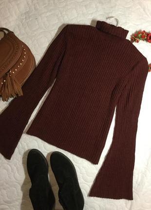 Гольф свитер в рубчик с широкими рукавами henry holland 12 размер