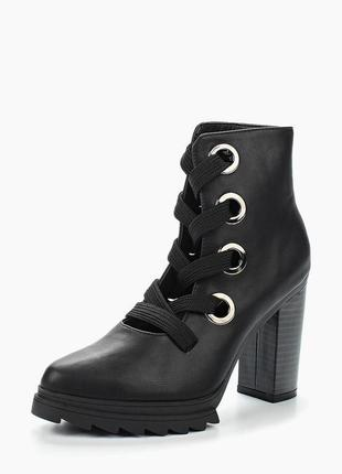 Мега крутые ботинки, ботильонны на шнуровке