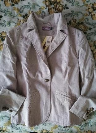 Новый повседневный брендовый  пиджак / жакет denim co {размер 38/10/m}