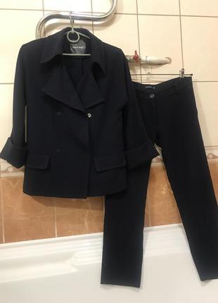 Костюм пиджак брюки удлинённый пиджак брюки укорочённые
