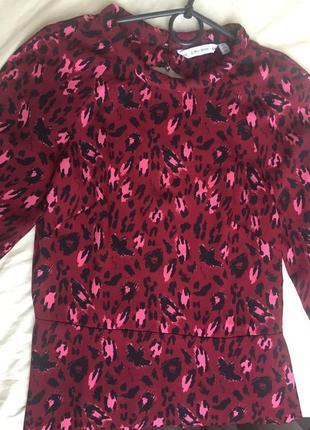 Крутое леопардовое платье
