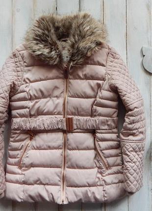 Young dimension  стильная зимняя куртка на девочку 10-11 лет