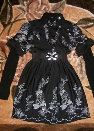 Платье- туника с вышивкой