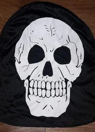 Карнавальная шапка, маска с черепом на хелоуин hellowin