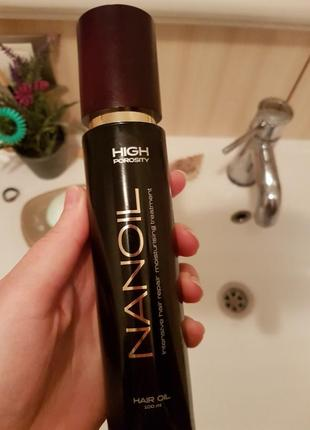 Nanoil high porosity масло для очень пористых и поврежденных волос.