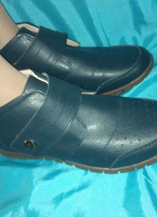 Новые кожаные демисезонные ботинки cushion-walk р 41-41,5