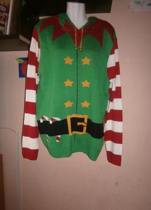 Новый свитер denim 50-56 размер новогодний на подарок