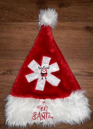 """Новогодняя шапка """" санта клаус"""" text santa"""