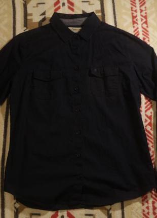 Очень тёмно-синяя рубашка от colin's