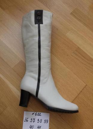 Шикарные белые сапожки размеры: 36,37,38,39,40,41