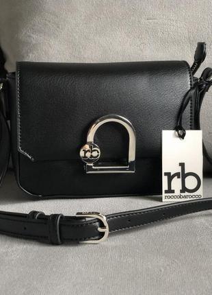 Новая чёрная сумка от итальянского бренда roccobarocco (оригинал), классика