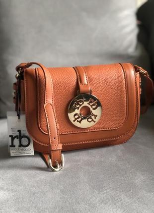 Новая трендовая рыжая сумка от итальянского бренда roccobarocco (оригинал)