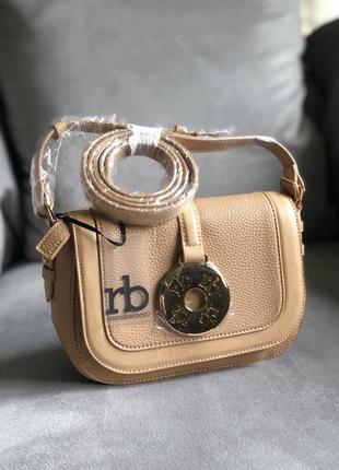 Стильная сумка в бежевом цвете от итальянского бренда roccobarocco (оригинал)1