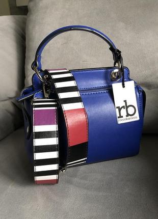 Новая трендовая сумка с широким ремешком от итальянского бренда roccobarocco (оригинал)3 фото