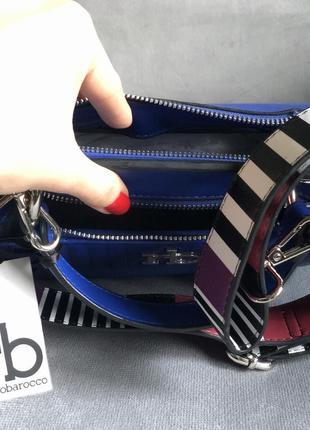 Новая трендовая сумка с широким ремешком от итальянского бренда roccobarocco (оригинал)5 фото