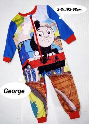 2-3г./92-98см слип, пижама с принтом thomas george