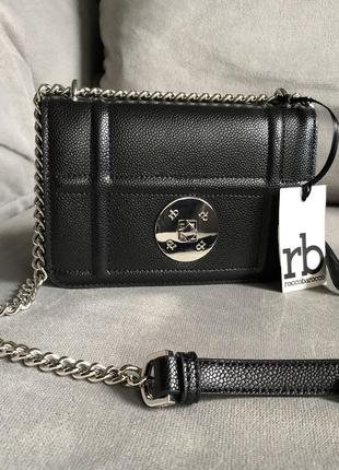Новая стильная чёрная сумка от итальянского бренда roccobarocco (оригинал)