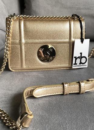 Новая стильная сумка в золотом цвете от итальянского бренда roccobarocco (оригинал)
