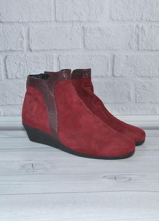 Ботинки caprice 40р 26см замшевая кожа идеал