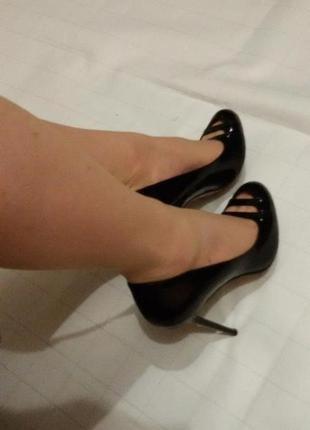 Туфли натуральная лаковая кожа