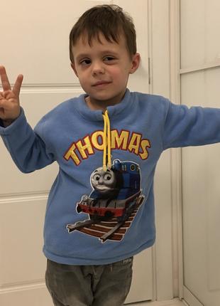 Теплая кофта свитшот флиска томас , на 2 и 3 года, сша