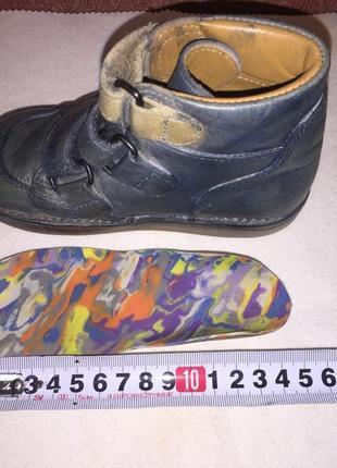 Ортопедические кожаные ботинки с дополнительной стелькой4