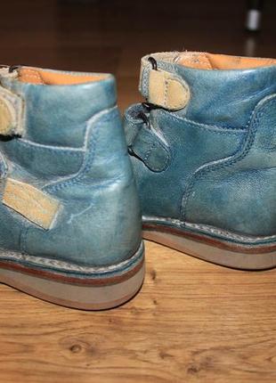 Ортопедические кожаные ботинки с дополнительной стелькой5
