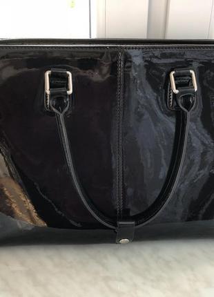 Вместительная сумка из нат лака antonio biaggi