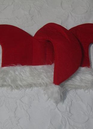"""Новогодняя карнавальная шапка """"санта арлекин"""""""