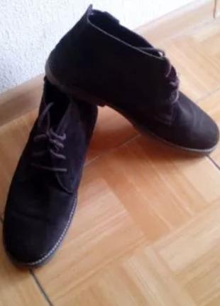 Кожаные полу ботинки pull & bear испания 43.5 - 44 р чоловічі черевики