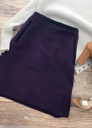 Стильная юбка теплая шерсть
