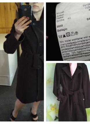Актуальное шерстяное пальто под пояс, jakes